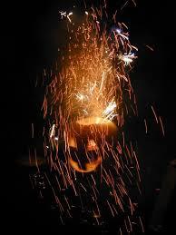 fireworks lantern fireworks and sparkling pumpkins