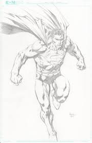 superman by david finch lineart comic pinterest david