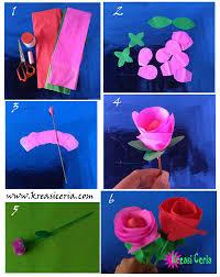 cara membuat bunga dengan kertas hias membuat prakarya bunga dari kertas krep untuk anak sd kreasi ceria