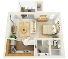 One Room Apartment Design Plan Fujizaki - Apartment design plan