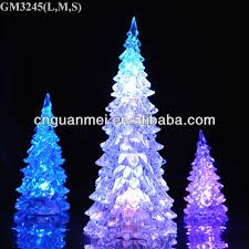 modern glass christmas tree with led light and liquid buy