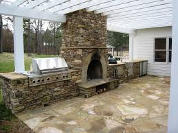 diy outdoor fireplace and oven