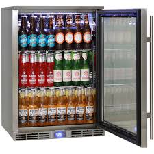 fridge freezer glass door rhino energy efficient alfresco all stainless outdoor glass door