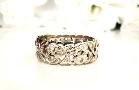 vintage chevron gold diamond v shape ring buy diamond v shape wedding bands rings vintage jewels