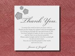 wedding reception quotes wedding reception thank you place setting card wedding thank you