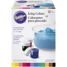 gel icing colors 12 ct wilton