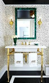 Powder Room Decor Cheetah Print Room Decor Cheetah Leopard Print Powder Room Black