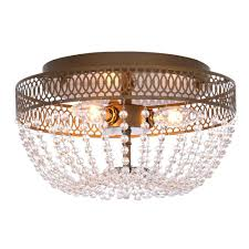 Home Depot Interior Lights by Hampton Bay Estelle 3 Light Champagne Flushmount Hd13811fmchpc