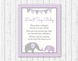 baby shower clothespin elephant don t say baby baby shower elephant baby shower