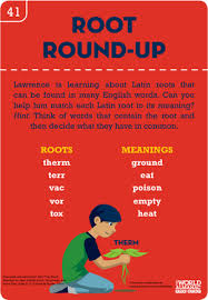 word root round up worksheet education com