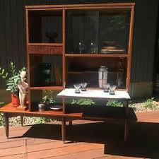 mid century modern room divider wall unit with bar mainline by