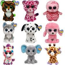 3pcs lot ty beanie boos big eyes small unicorn plush toy doll