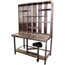 Post Office Help Desk Industrial Steel Post Office Desk With Seat At 1stdibs