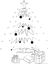 christmas tree dot to dot printable rainforest islands ferry