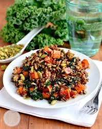 caramelized sweet potato and kale fried rice iowa eats