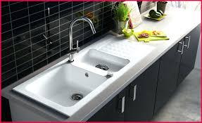 lavabo cuisine bouché surprenant evier cuisine blanc images 271444 evier idées