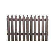 Decorative Fence Panels Home Depot by Veranda 3 1 2 Ft H X 6 Ft W Cape Cod Gray Gothic Composite Fence