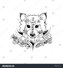 black white raccoon isolated engraving sketch stock vector