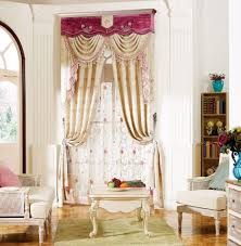 2017 pink european luxury window blackout curtain for living room