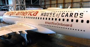 Virgin America Flight Map by Netflix Partnership Virgin America