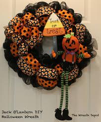 diy mesh waving jack o u0027lantern halloween wreath wreaths craft