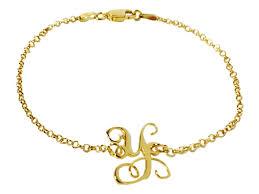 monogram bracelets initial monogram bracelet 18 kt goldplated sterling