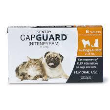 sentry capguard flea treat for dogs