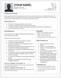 Underwriter Job Description For Resume by Mortgage Underwriter Resume Templates For Ms Word Resume Templates