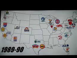 map of nba teams nba teams logos through the years 1949 2018