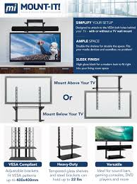 amazon com mount it tv wall mount shelf for cable box dvd