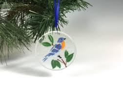 bluebird ornament etsy