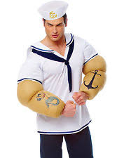 Mens Sailor Halloween Costume Popeye Costume Ebay