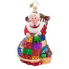 radko ornaments santa ornament quiltin mrs claus