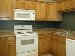 oak kitchen cabinets with green walls oak cabinet best wall