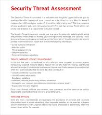 business assessment report template sle threat assessment 9 documents in pdf