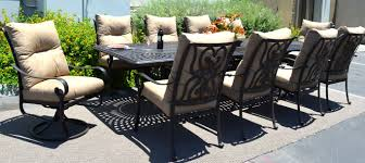 11 piece dining room set 11 piece outdoor dining set patio chairs table santa anita cast