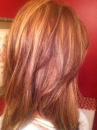 hi and low lights on layered hair natural red hair with highlights and lowlights google search