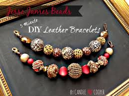 bracelet beaded diy images Jesse james beads diy leather beaded bracelet jpg