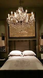 Chandelier Restoration Traditional Guest Bedroom With Hardwood Floors Chandelier In Model