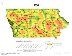 Iowa State Map National Geodetic Survey 2014 Gps On Bench Marks Campaign