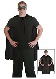 black superhero cape halloween costumes