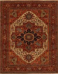 Indian Area Rug Indian Serapi Rectangle 12x15 Ft Wool Carpet 16703