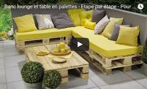 canapé exterieur palette tutoriel construire salon de jardin en bois de palettes