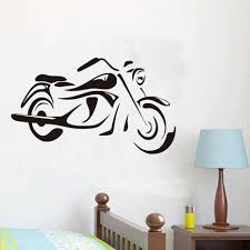 wall stickers cool wall stickers cool free shipping vintage motorcycle wall stickers cool design diy adhesive waterproof vinyl