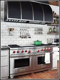 subway tile backsplash kitchen dark grout tiles home design