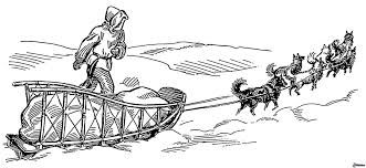 dog sled coloring pages funycoloring
