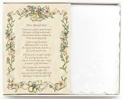 Civil Wedding Invitation Card Amazon Com Wedding Collectibles Poetry Hankie From The Bride To