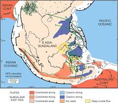 Map Of Tectonic Plates Australia U2013se Asia Collision Plate Tectonics And Crustal Flow
