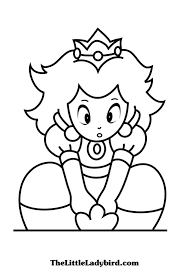 download baby princess peach mario coloring pages mario coloring