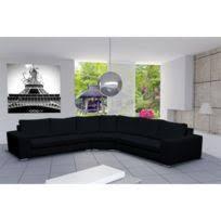 canapé d angle en simili cuir meublesline canapé d angle design simili cuir california noir et